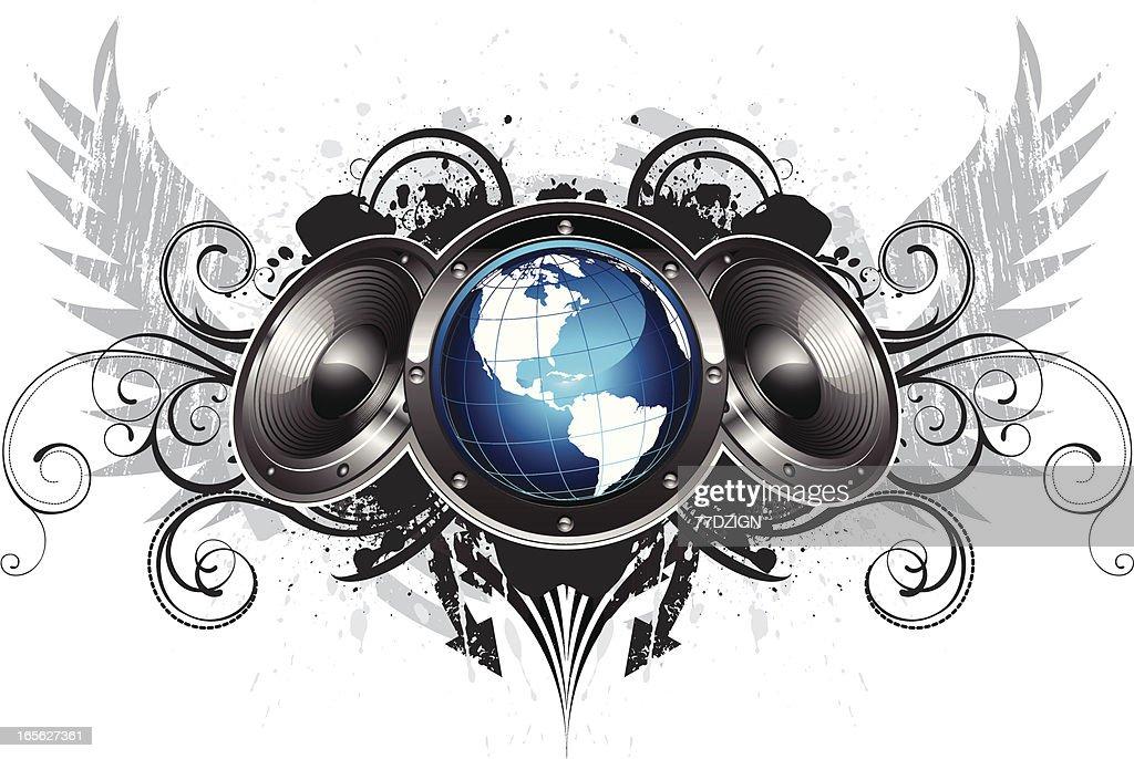 three speaker flourish