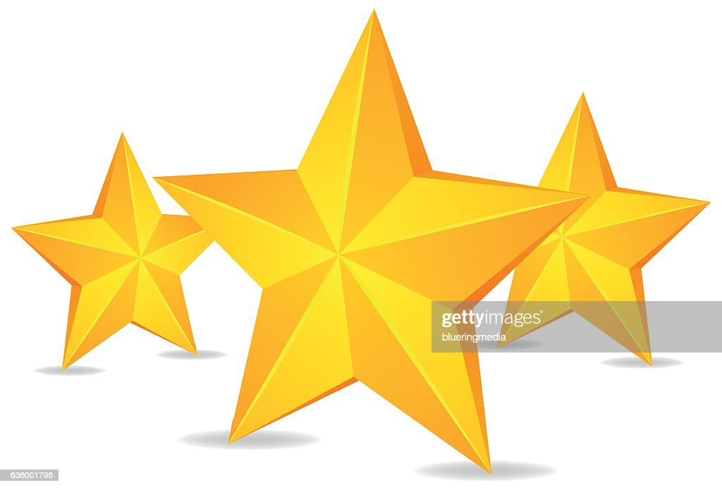 Three Stars On White Background Vector Art Getty Images