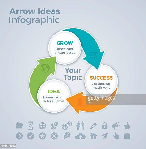 Three Step Arrow Infographic