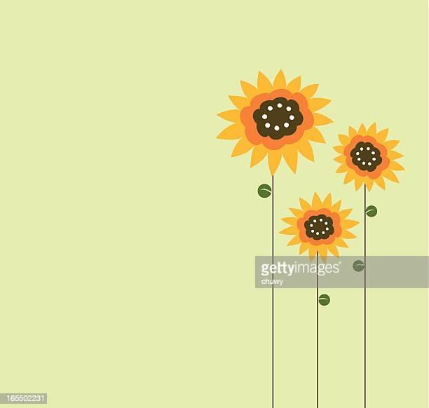 ilustraciones, imágenes clip art, dibujos animados e iconos de stock de sunflowers - girasol
