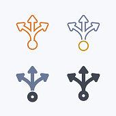 Three Way Split - Pastel Icons