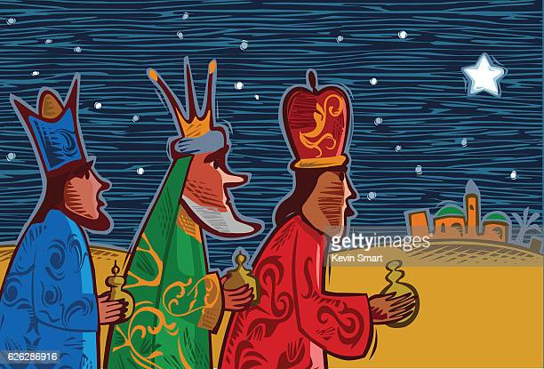 three wise men - three kings - three wise men stock illustrations, clip art, cartoons, & icons