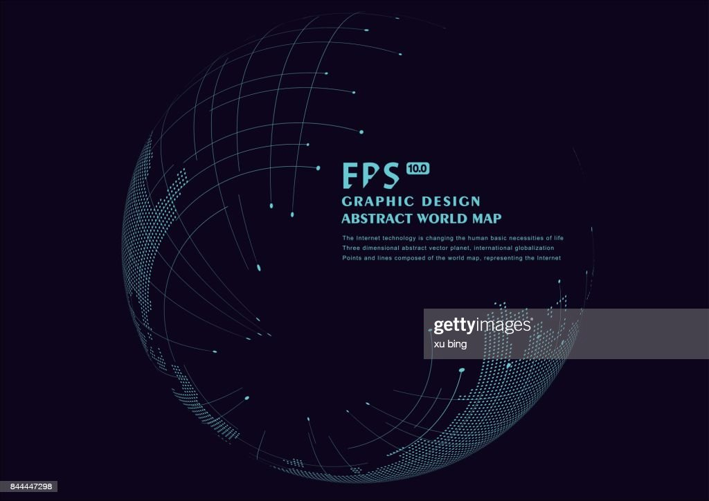 three-dimensional abstract planet,meaning globalization, internationalization,vector background
