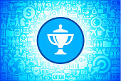 Throphy  Icon on Business and Finance Vector Background