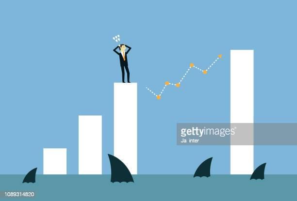 through the gap - high jump stock illustrations