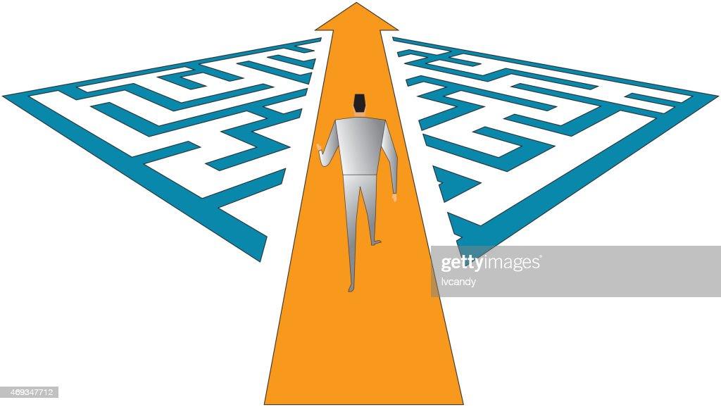 Through the maze : stock illustration