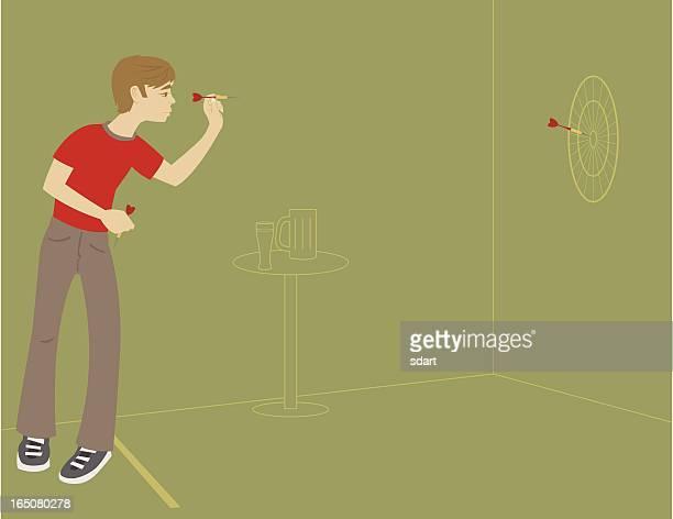 throwing darts - dart stock illustrations, clip art, cartoons, & icons