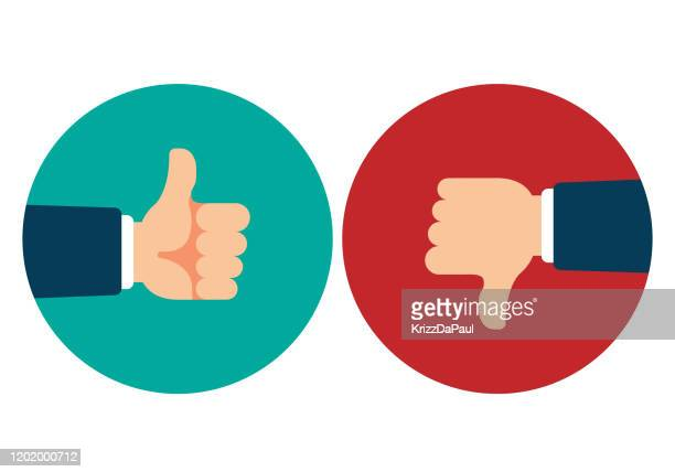 thumb up and thumb down - thumbs down stock illustrations