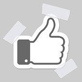thumb up applique