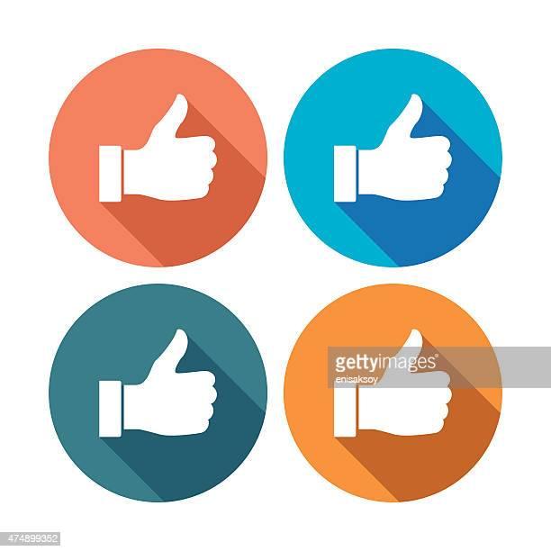 Thumb up flat icons