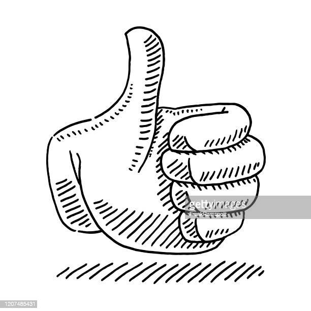 thumb up icon drawing - thumbs up stock illustrations