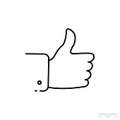 Thumb Up icon, Outline icon, Business proposal acceptance, accept, approve, success, valid