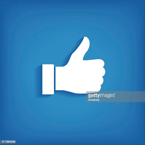 thumb up icon - like button stock illustrations