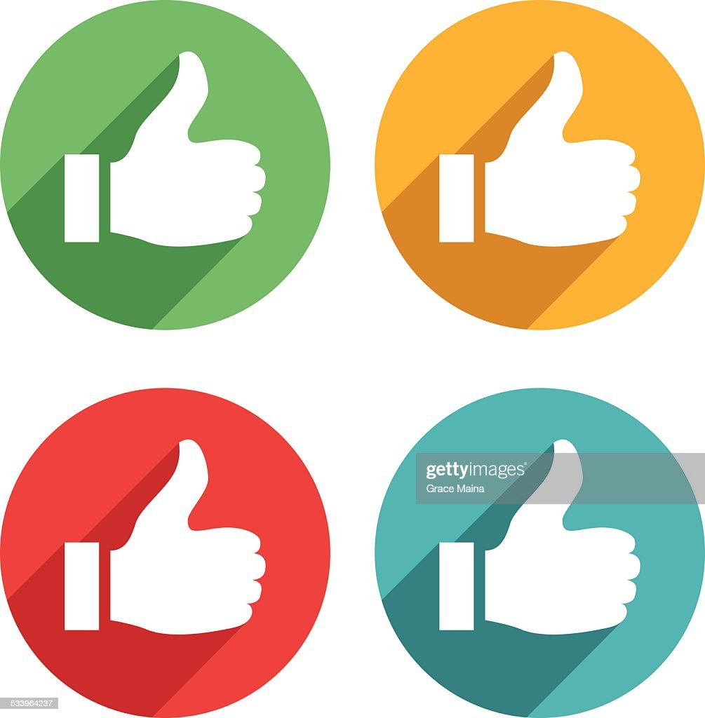 Thumb up icons - VECTOR : stock illustration