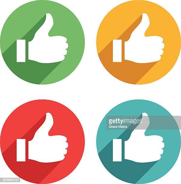 thumb up icons - vector - thumb stock illustrations