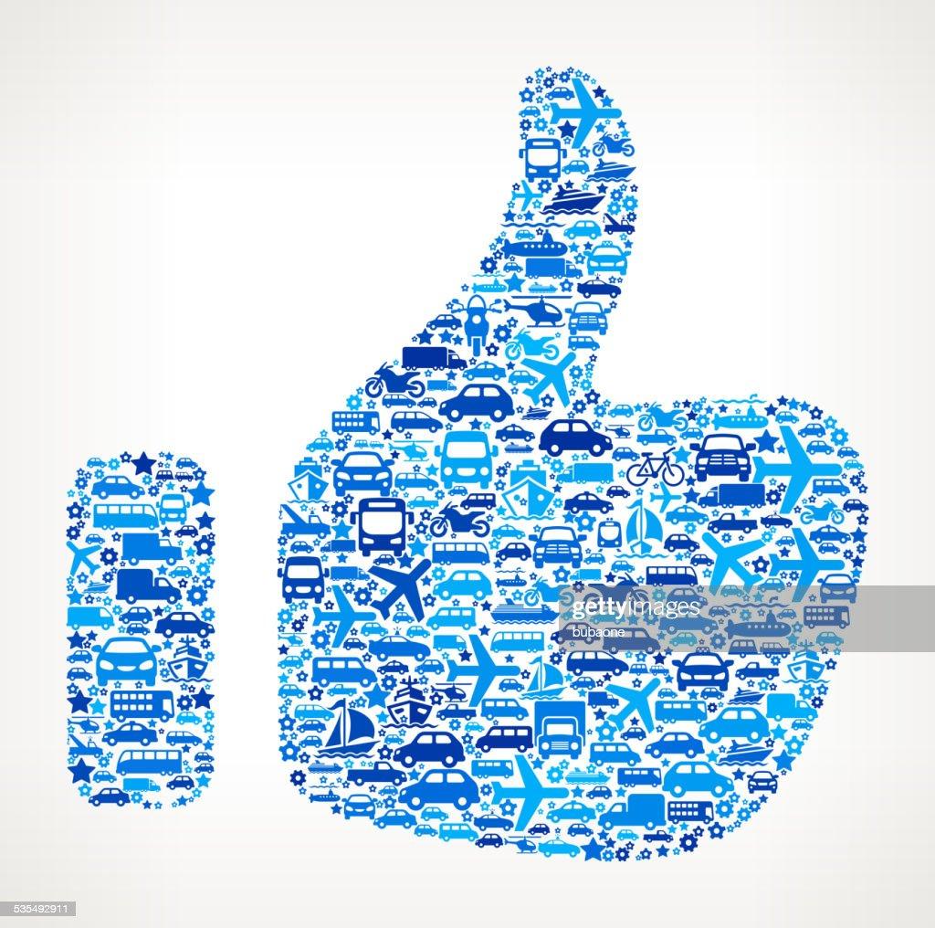 Thumb Up On Transportation royalty free vector art Pattern : stock illustration