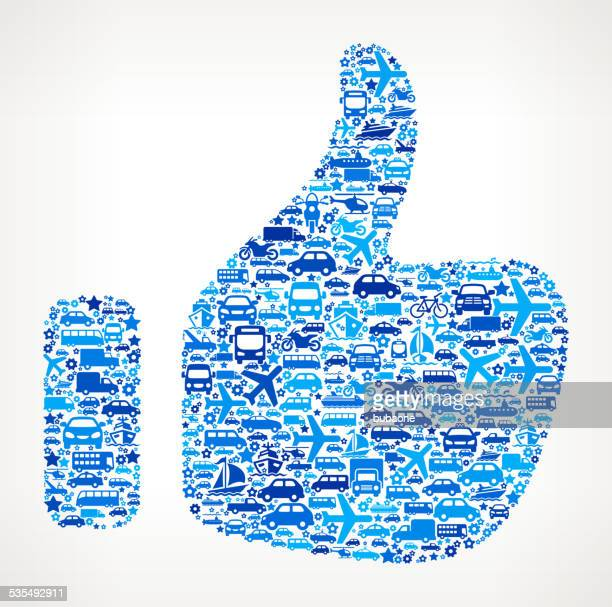 thumb up on transportation royalty free vector art pattern - applauding stock illustrations, clip art, cartoons, & icons