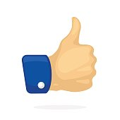 Thumb up symbol of like