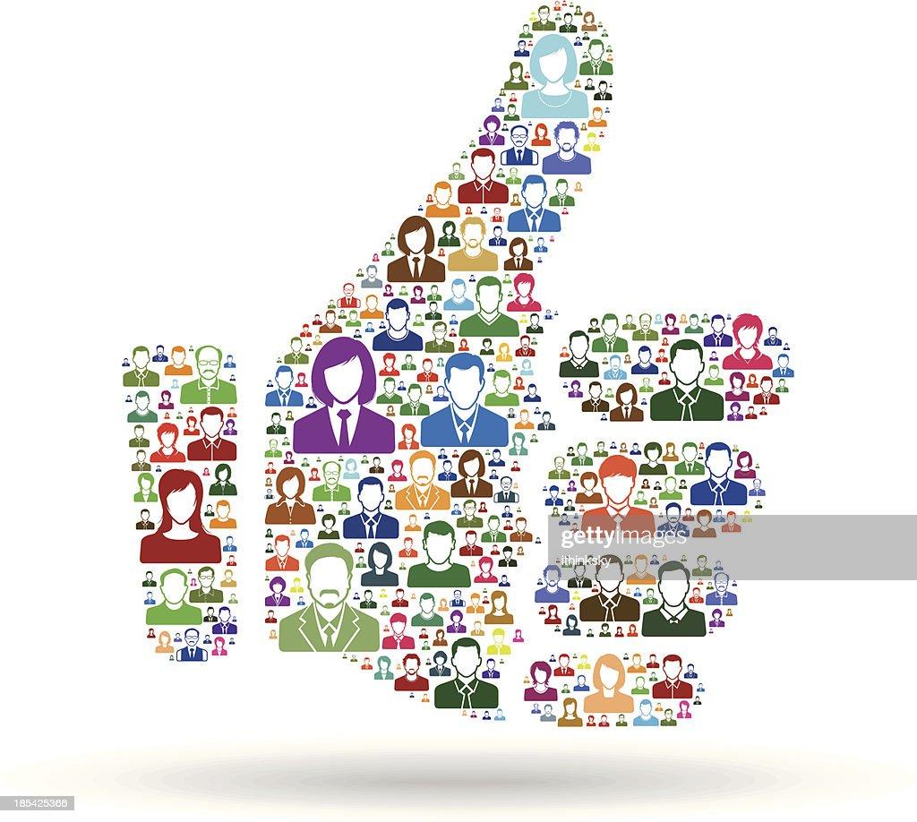 Thumb up : stock illustration