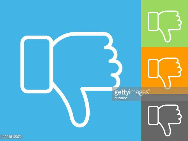 thumbs down icon - thumbs down stock illustrations