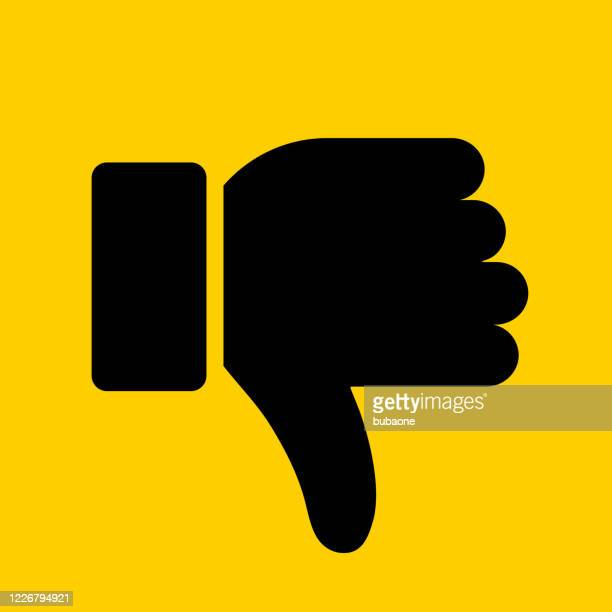 thumbs down icon - disappointment stock illustrations