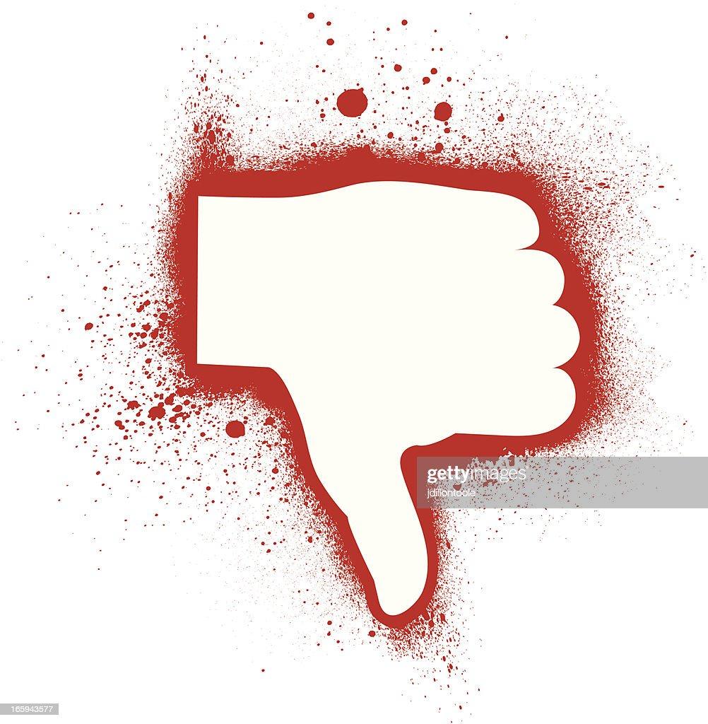 Thumbs Down | Spray Paint : stock illustration