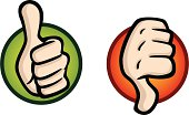 Thumbs Up and Down Icons
