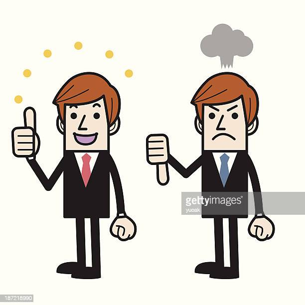 thumbs up and down - refusing stock illustrations, clip art, cartoons, & icons