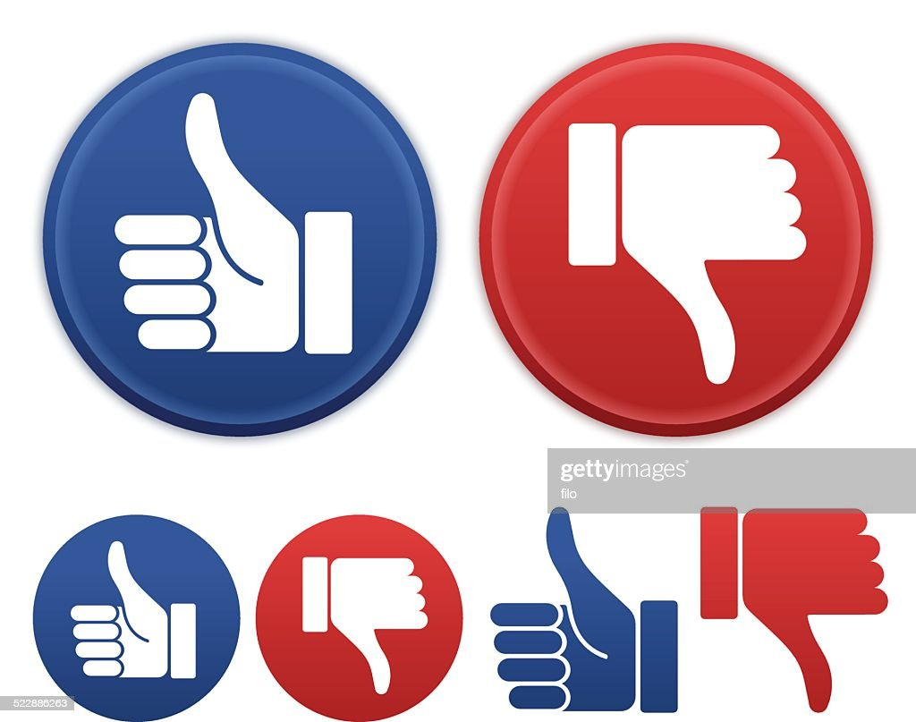 Thumbs Up and Thumbs Down : stock illustration