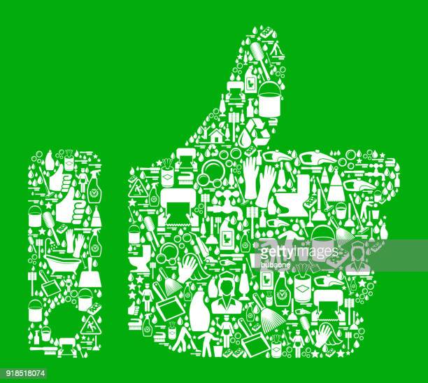thumbs up  cleaning green background pattern - paper towel stock illustrations, clip art, cartoons, & icons