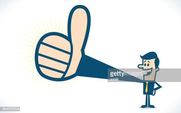 Thumbs up.  Created with adobe illustrator.