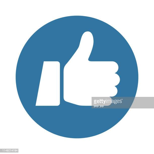 thumbs up icon - like - enjoyment stock illustrations