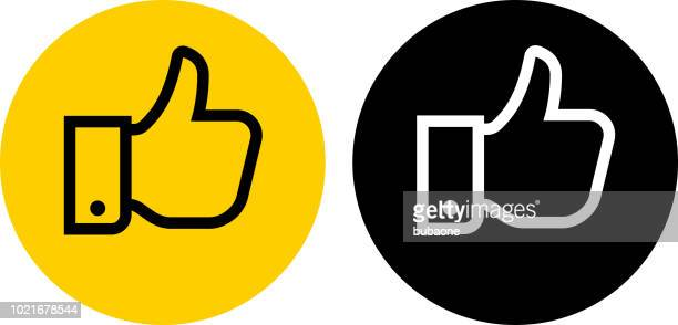 thumbs up icon - thumb stock illustrations