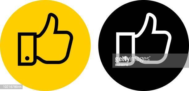 ilustrações, clipart, desenhos animados e ícones de polegares para cima do ícone - sinal afirmativo