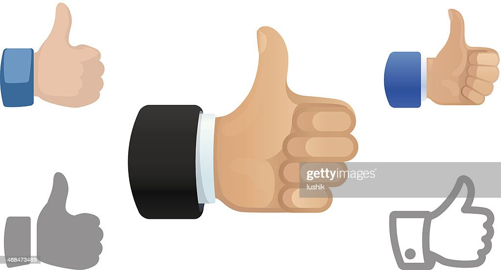 Thumbs Up icons : stock illustration