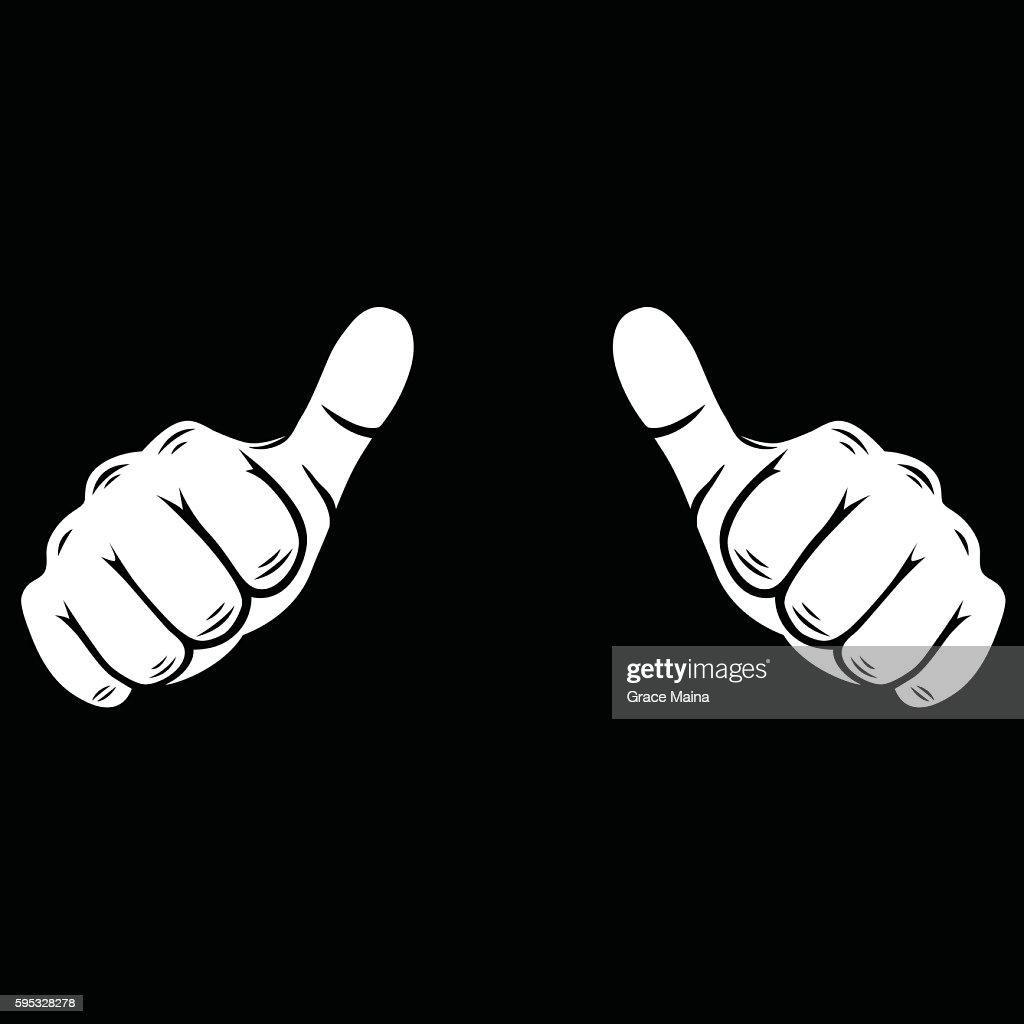Thumbs up  Illustration - VECTOR : stock illustration