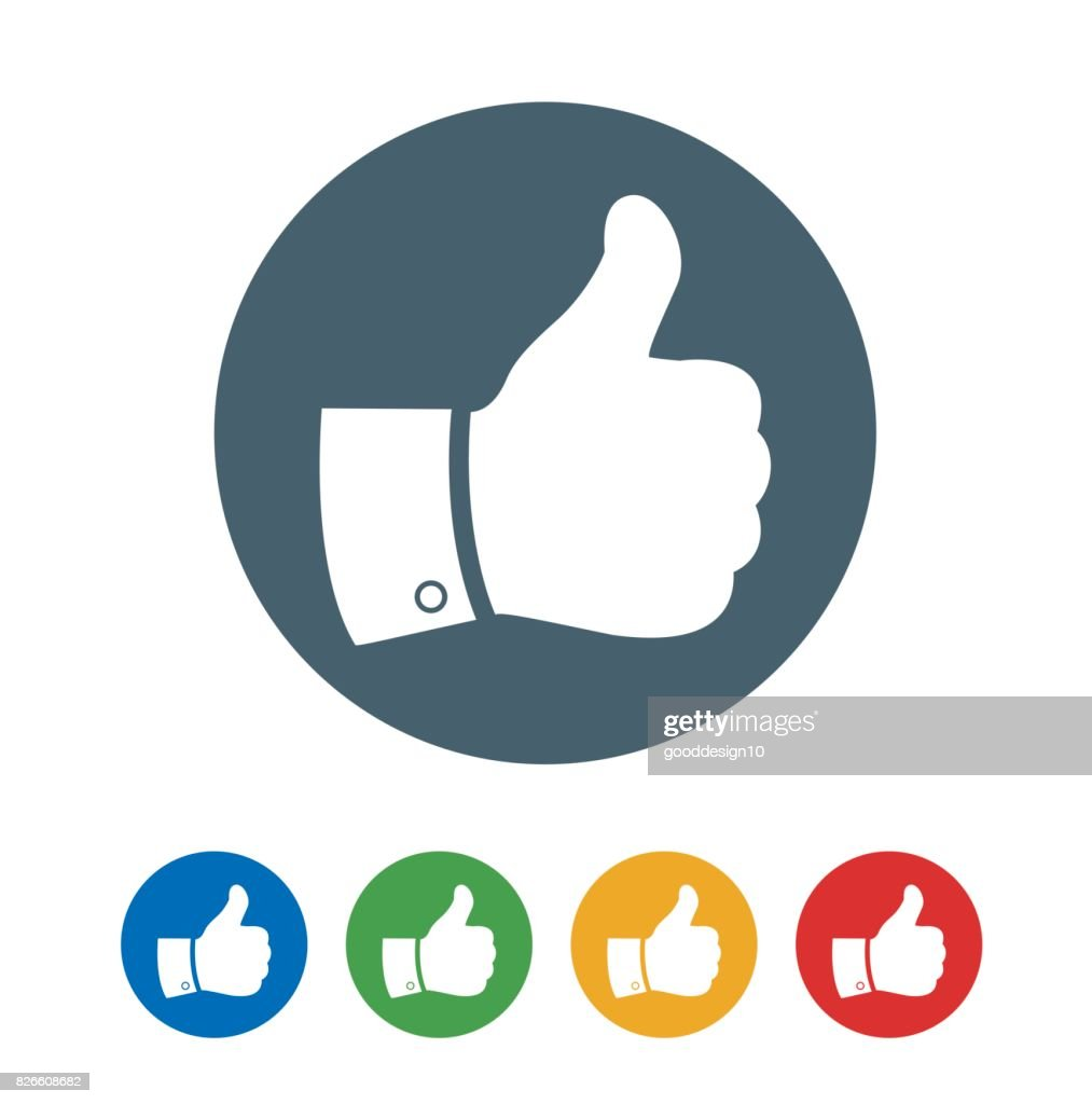 Thumbs Up Like flat Icon