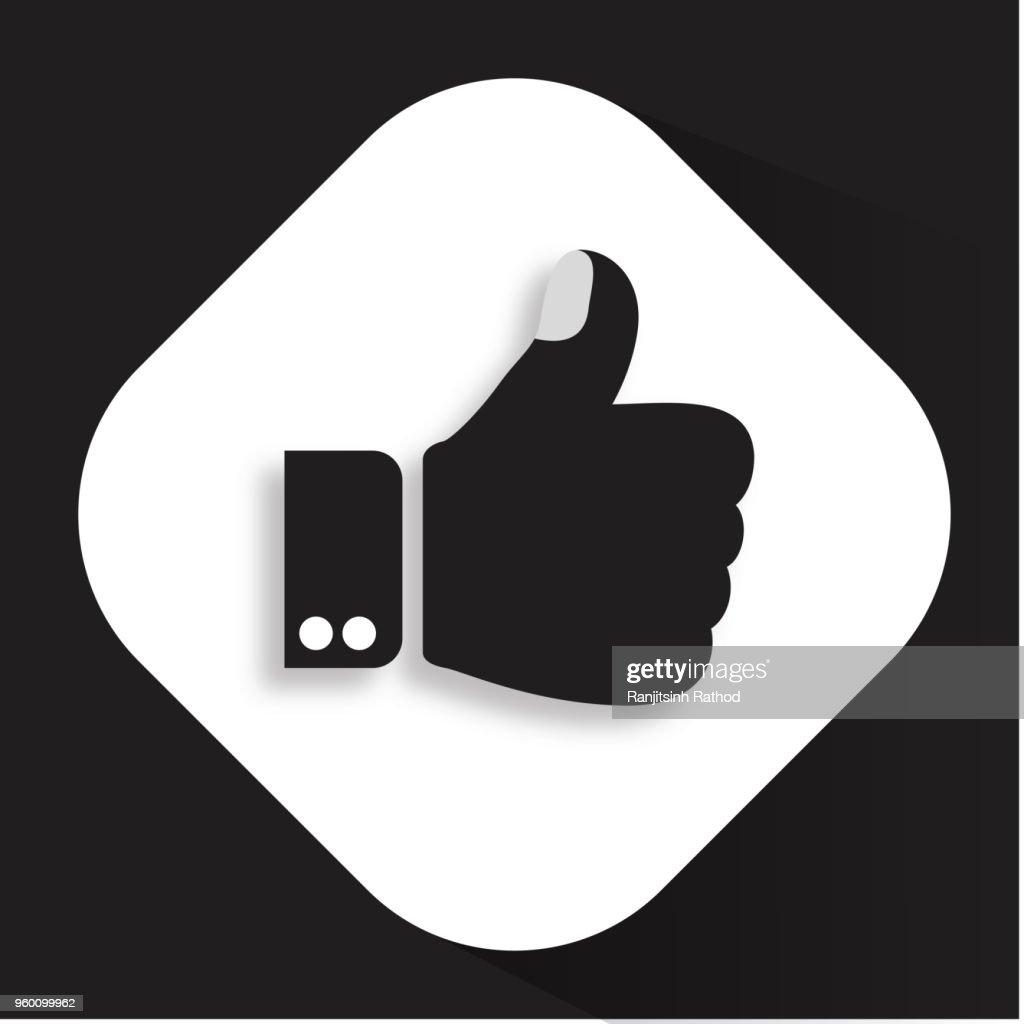 Thumbs Up wie flache Symbol : Stock-Illustration
