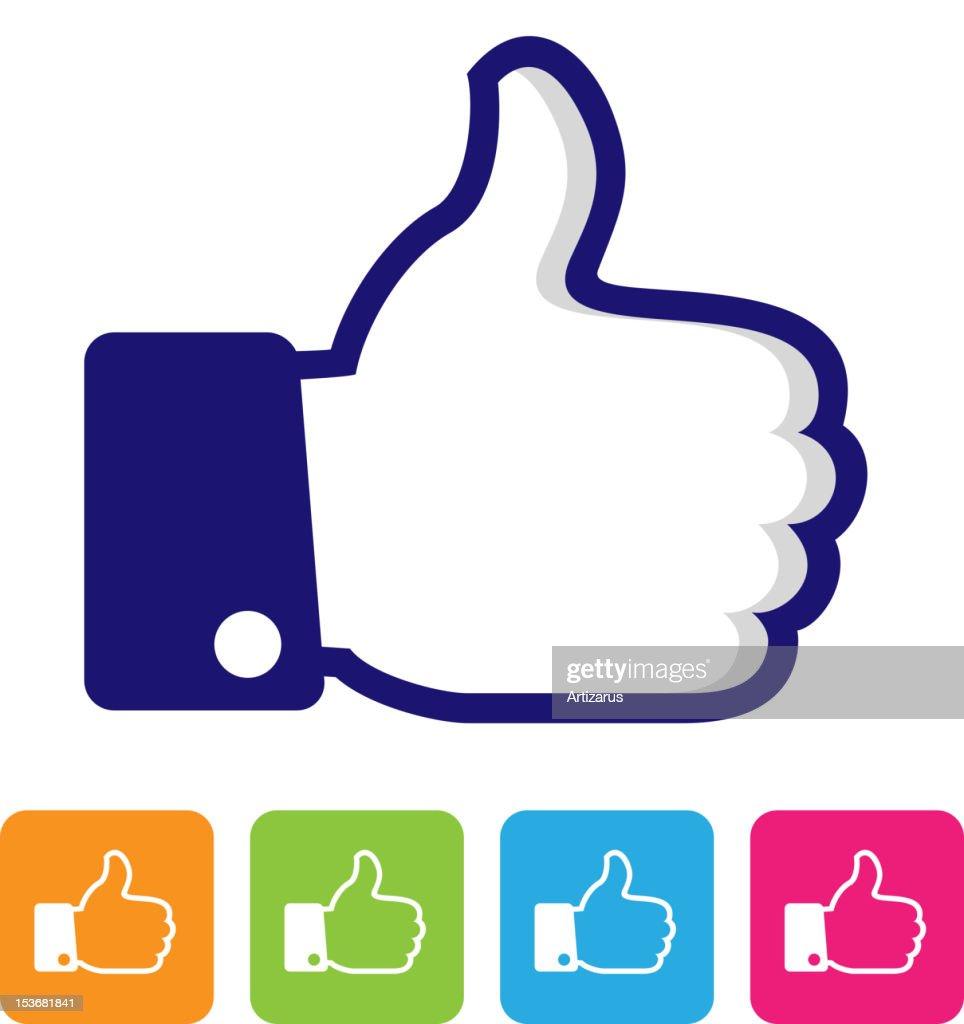 thumbs up like symbol