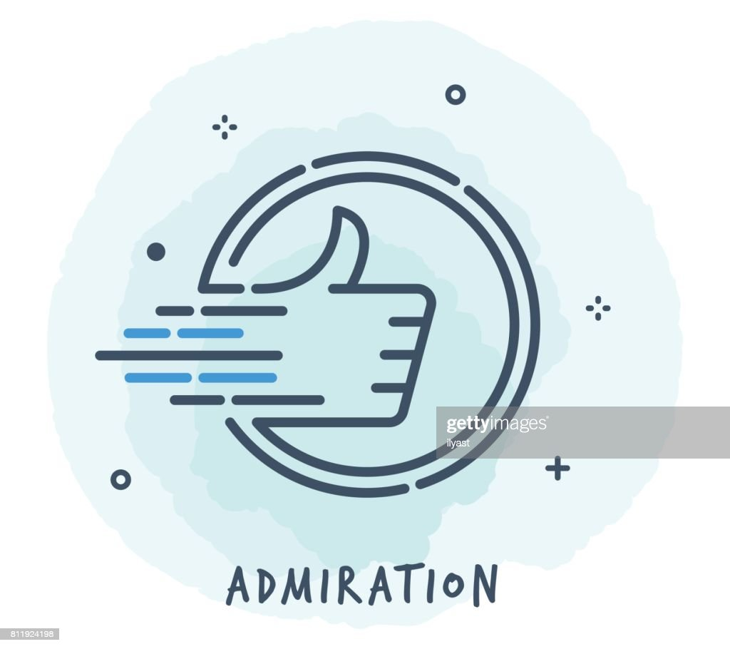 Thumbs Up Line Icon : stock illustration