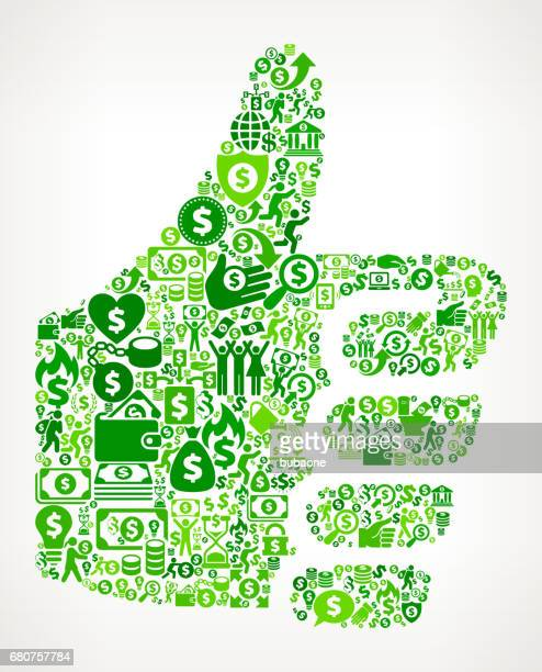 thumbs up  money and finance green vector icon background - money tree stock illustrations, clip art, cartoons, & icons