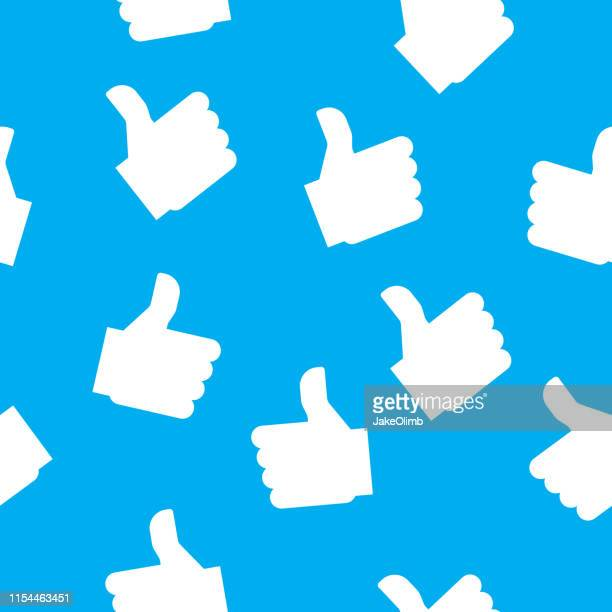 thumbs up pattern - like button stock illustrations