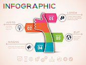 Thumbs Up Social Media Flat Design Infographic