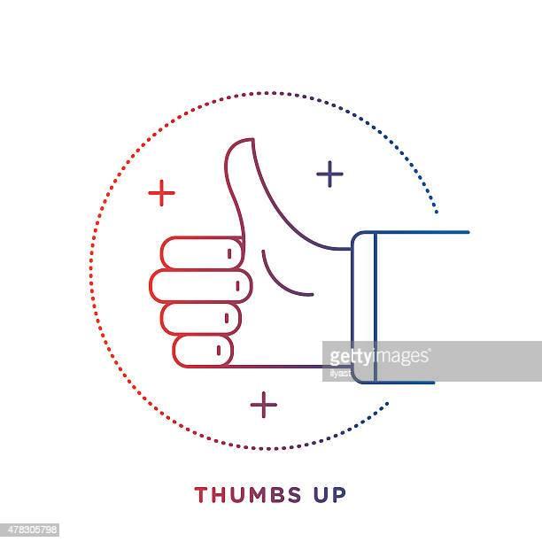 ilustrações, clipart, desenhos animados e ícones de polegares para cima o símbolo - sinal afirmativo