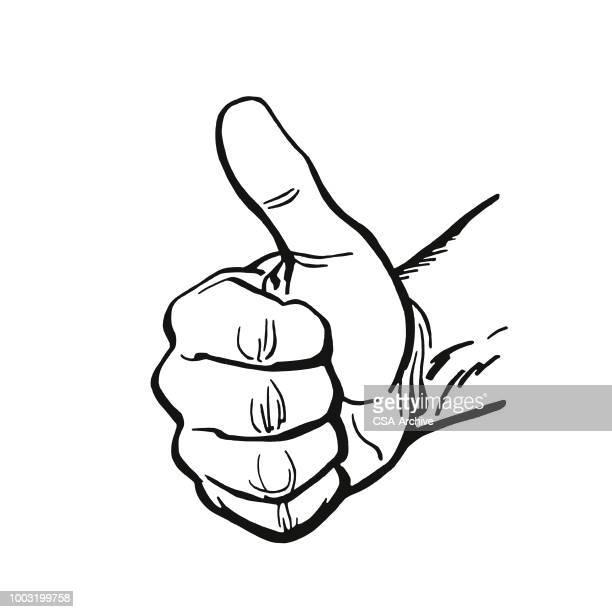 thumbs up - thumb stock illustrations