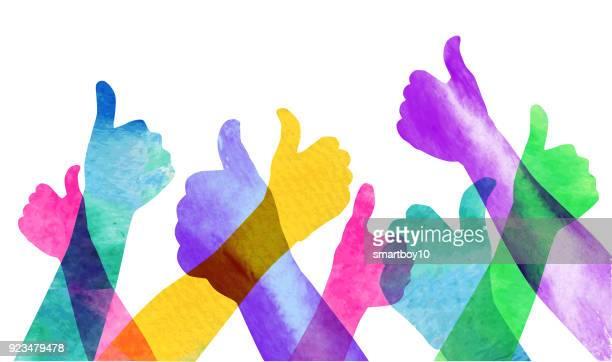親指を立てる  - 親指を立てる点のイラスト素材/クリップアート素材/マンガ素材/アイコン素材