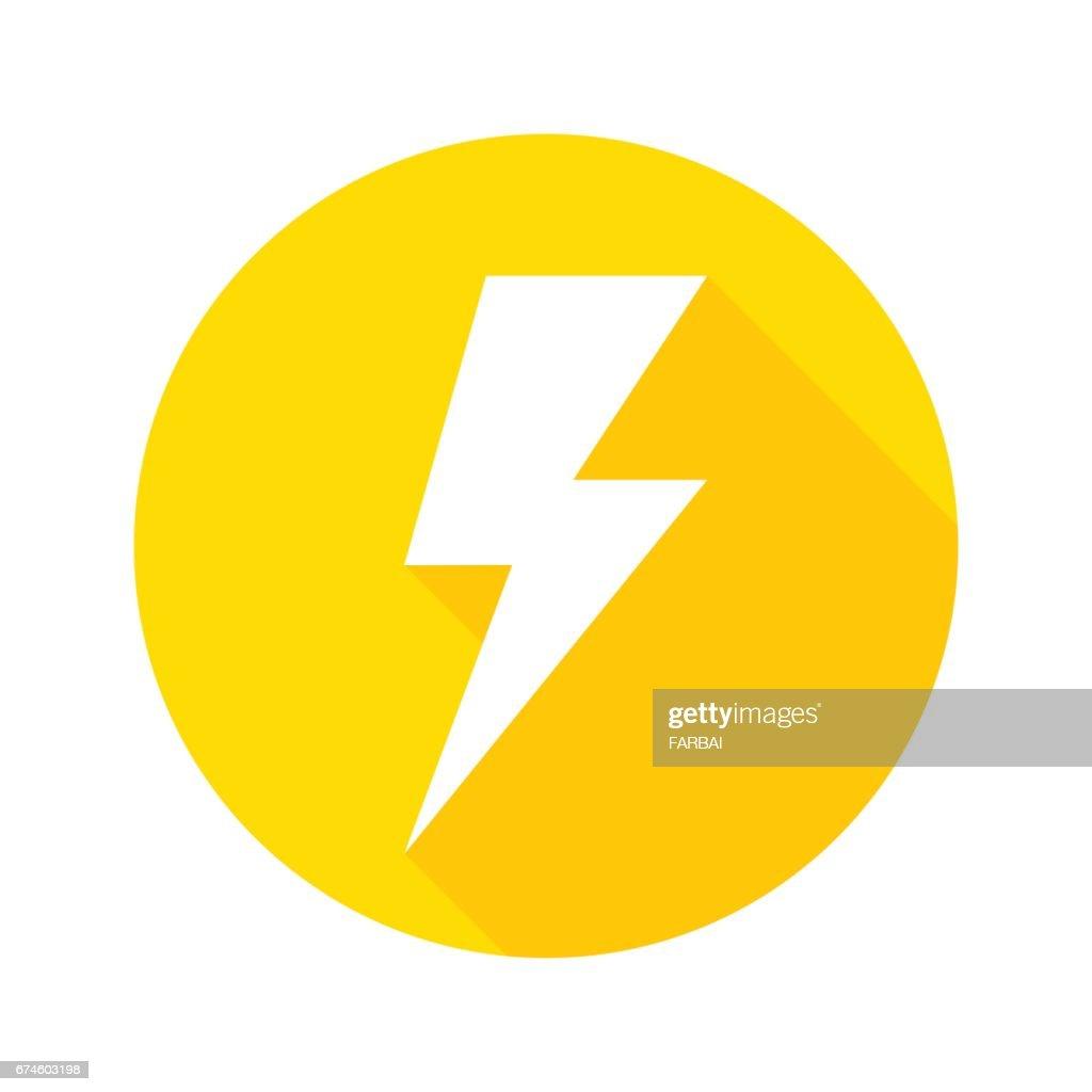 Thunder icon flat design vector