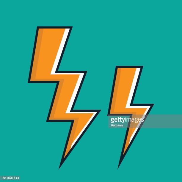 thunder lightning icon - fasting activity stock illustrations, clip art, cartoons, & icons