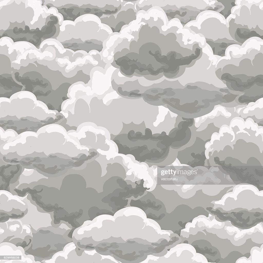 Thunder sky seamless pattern
