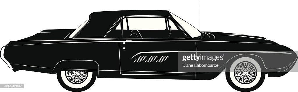Thunderbird Classic Car Silhouette High Res Vector Graphic Getty